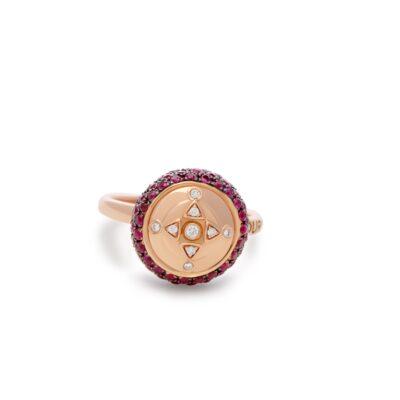 HC Ring Ruby Rose gold